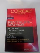 L'Oreal Revitalift Triple Power Anti-Aging Overnight Mask 1.7 oz/48 g NEW