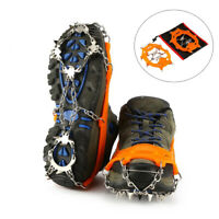 18 Teeth Ice Snow Climbing Walking Boot Cover Spike Cleats Crampons Gripper CR