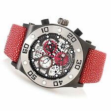 Men's Invicta 17672 Speedway Swiss Chronograph Skeleton Dial Red Stingray Watch