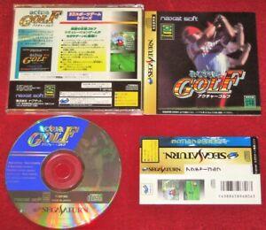 *Complete* Sega Saturn Sport Game ACTUA GOLF NTSC-J Japan Import JPN