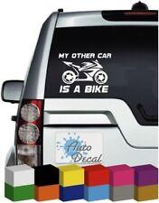 My Other Car is a Bike Vinyl Car, Van, 4x4 Window, Bumper Sticker / Graphic