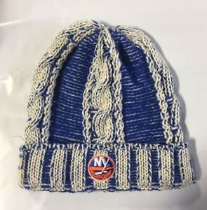 New York Islanders Knit Beanie Toque Winter Hat Cap NHL Center Ice Cuffed Cable
