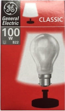 100W GE Classic BC lamp/bulb GLS Bayonet B22 - Pearl - Dimmable - Pack of 10