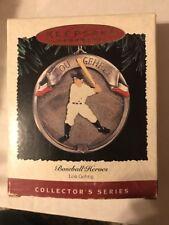 NEW NIB Hallmark Keepsake Christmas Ornament 1995 Baseball Heroes LOU GEHRIG