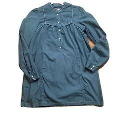 Sessun Bob Dylan Tunic Size L Polka Dots Pearl Buttons Mini Dress