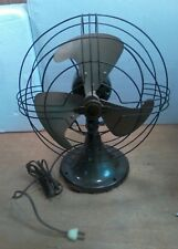 """1930's General Electric Oscillating Fan, 10"""" 2 Speed Works Great."""