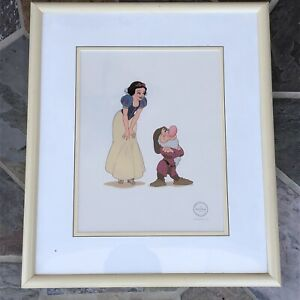 Walt Disney's Snow White & Grumpy Serigraph Cel Limited Edition 5000 with COA