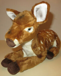 """Fawn Plush FAO Schwarz 18"""" Stuffed Toy Spotted Sitting Baby Deer Very Soft 2017"""