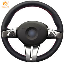 Black Genuine Leather Steering Wheel Cover for for BMW Z4 2003 2004 2005 2006