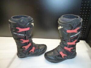 O'NEAL WOMEN'S RIDER BOOTS MX DIRT BIKE BLACK PINK OFF ROAD ATV UTV size 6