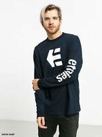 NEW - Etnies Long Sleeve T Shirt Mens - Multi Listing, BLACK WHITE BLUE VARIOUS