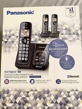 PANASONIC KX-TG833SK Link2Cell Cordless Telephone with D Answering M 3Handsets