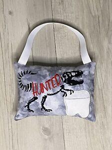 Personalised Tooth Fairy Pillow Dinosaur Pocket Cushion Birthday Christmas