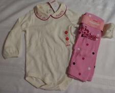 GYMBOREE 12-18 Month Wild One Bodysuit Pink Polka Dot leggings Outfit NWT