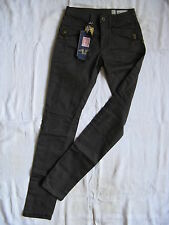 We Are Replay Damen Hose Stretch Casual Pant W26/L34 low waist slim fit pipe