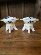Vintage salt and pepper shakers 1696 Cooking Wok Japan