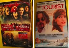 2 Johnny Depp Movies Pirates of the Caribbean At World's End & The Tourist New