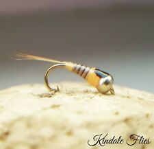 GoldHead Quill Perdigon Nymph Size 20 (Set of 3) Fly Fishing Grayling Trout