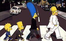 Poster A3 Los Simpson Beatles Homer Marge Lisa Bart