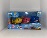 Zuru Robo Alive Junior Baby Shark Sinf & Swim Bath Toy 3 pcs in Set New In Box