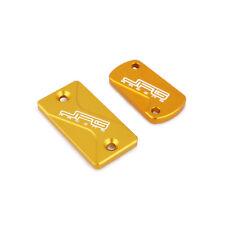 Gold Front Rear Brake Reservoir Fluid Cover Cap For Suzuki RMZ450 RMZ250 RM125