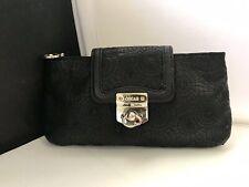 "Oscar De La Renta Black Embossed Leather Vintage Clutch ""Rare"" VINTAGE"