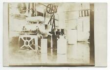 1910 era FACTORY INTERIOR RPPC REAL PICTURE POSTCARD - MACHINERY SHOWING