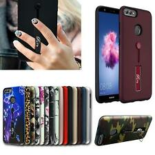 For Huawei P Smart 2017 & 2019 New Shock Proof Hard Back Ring Stand Phone Case
