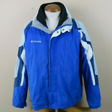 COLUMBIA Vertex Ski Jacket Coat Men's XL Full Zip Blue White Liner