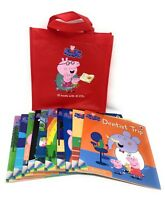 Peppa Pig 10 Books Set With 10 CD's In A Bag, Dentist Trip, Sports Day ...