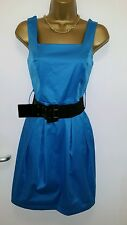 NEW TAGS DOROTHY PERKINS UK 8 BLUE FLOATY SKATER TUNIC OCCASION DRESS