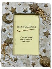 """The Natural World Stars, Moon, Planets Raised Picture Frame Photo Size  4"""" x 6"""""""