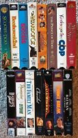 Lot of 15 VHS Romance Comedy Action Adventure Drama Classic Movies Films