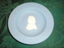 "Wedgwood Collectors Society 4-3/8"" Jasperware Dish White on Blue"