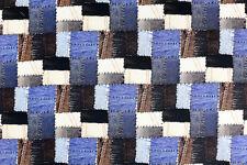 Deko Möbel Patchwork Stoffe Baumwolle Vorhang Gardine Jeans Flicken Nähen 1236/8