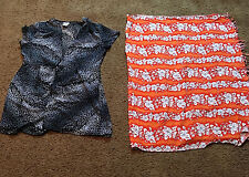 Women's Swimsuit Cover Ups Large Dotti Sarong Wrap Lot Of 2.
