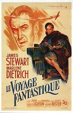 James Stewart & Marlene Dietrich Movie Film Image from France -- Modern Postcard