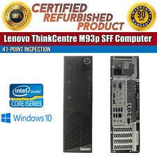 Lenovo ThinkCentre M93p SFF Intel i7 8GB RAM 1TB HDD USB Win 10 B Grade Desktop