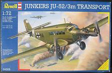 Revell 04305 - JUNKERS JU-52/3m TRANSPORT - 1:72 - Flugzeug Modellbausatz - Kit