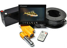 "CCD Unterwasserkamera Angler Paket 7"" TFT LCD, 12V 7.0Ah Akku,  600TVL 20m Kabel"