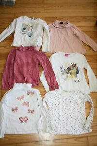 lot fille 4 ans 6 t shirts 3 pulls 3 robes