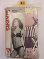 M&S x 5 COTTON LYCRA BIKINI KNICKERS PINKS BRAND NEW WITH TAGS SIZE 24