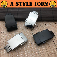 BUCKY 20mm Stainless Steel Deployment Folding Watch Clasp for Breitling w/Logo