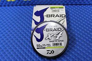 Daiwa J-Braid X4U 50-135Y Fluorescent Yellow 50lb 150yd 4000-2008
