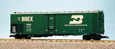 Usa Trains G Scale 50' Mechnical Reefer R16705 Burlington Northern - Green/Silve