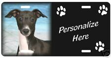 Italian Greyhound 3 Personalized Auto Pet License Plate