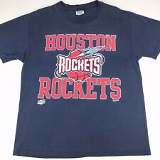 VTG Houston Rockets T Shirt 90s Era Graphic Spell Out Hanes Champknit Blue USA