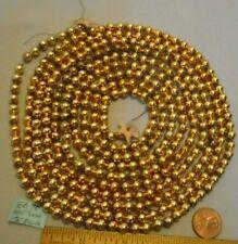 "Christmas Garland Mercury Gold 105"" Long 3/16"" Beads Eb70 Vintage"
