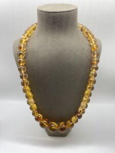 Antike Bernstein Halskette   Kugelförmig