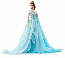 Barbie Fashion Model Collection, Silkstone Blue Chiffon Ball Gown New by Mattel